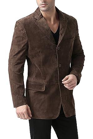 3949b6dd83ba BGSD Men s Robert Three-Button Suede Leather Blazer (Regular Tall ...