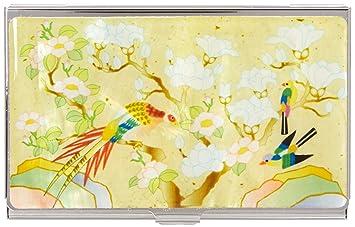 Perlmutt Design Visitenkartenetui Koreanische Malerei Weiße