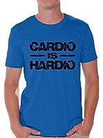 Awkward Styles Men's Cardio Is Hardio T shirt Tops Black Lightning GYM