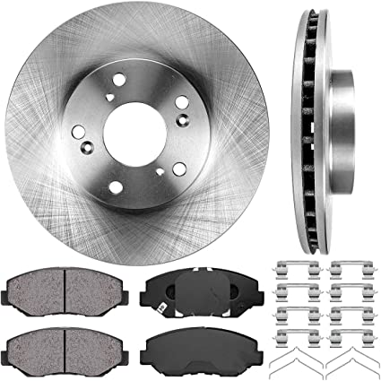 Front+Rear Rotors Ceramic Pads For 2003 2004 2005 2006 2007-2010 2011 ELEMENT