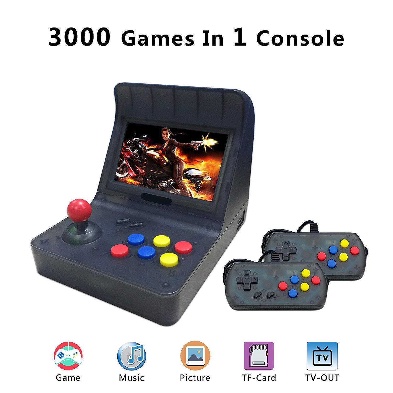 BAORUITENG Retro Game Console ,Classic Retro Video Game Player Portable Game Console 16GB 4.3'' Full View TFT Screen 3000 Classic Games (Black)