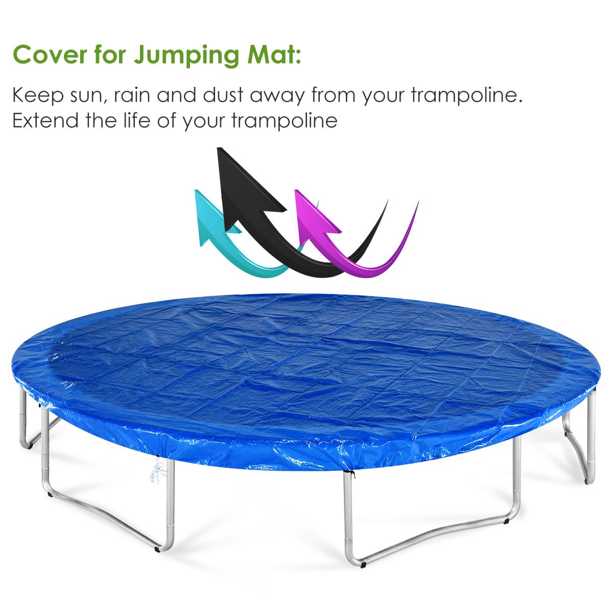 Zupapa Kids Trampoline, TUV Approved Trampoline 10ft, with Safety Enclosure Net, Heavy Duty Indoor Outdoor Round Trampoline for Kids by Zupapa (Image #6)