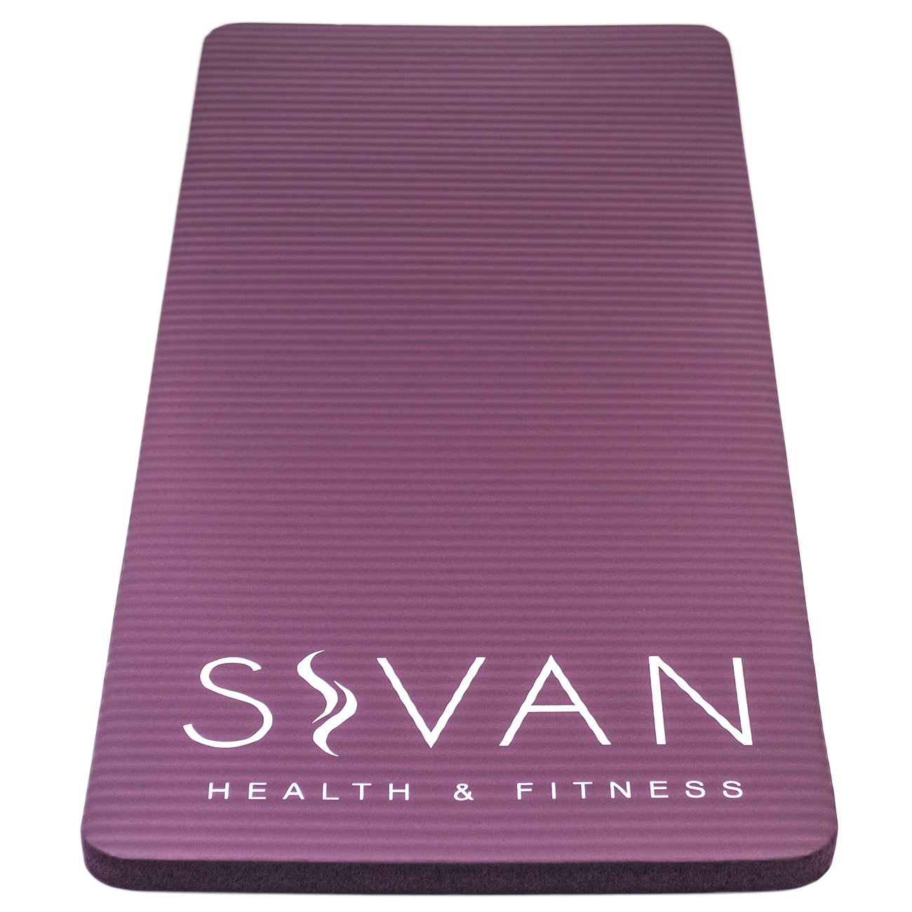 Includes Cushion Pressure Points for Fitness Exercise Workout Great for Knees Pilates and More Floor Exercises and Elbows While Doing Yoga Wrists Sivan Health and Fitness Yoga Knee Pad