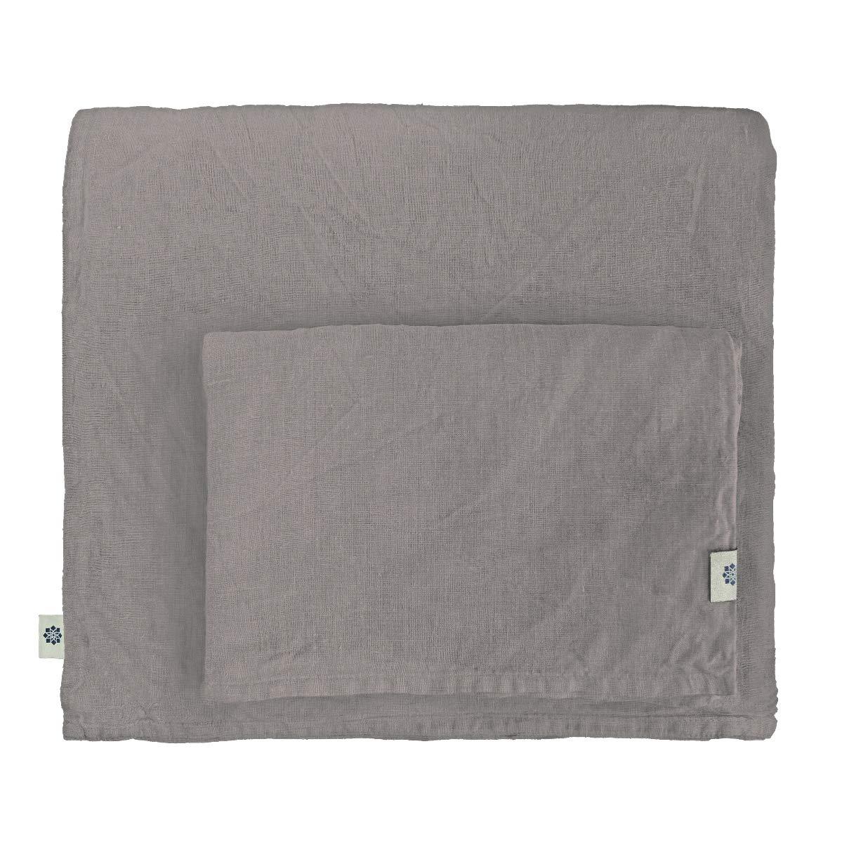 Linen & Cotton Stonewashed Leinen Bettwäsche, Bettwäsche Set Alicia - 100% Leinen, 220 x 230cm (KingGröße), Taupe