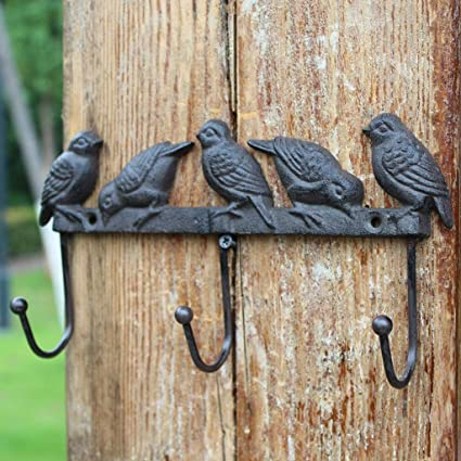 KTYX Anzuelo para Pájaros De Hierro Forjado Vintage Europeo ...