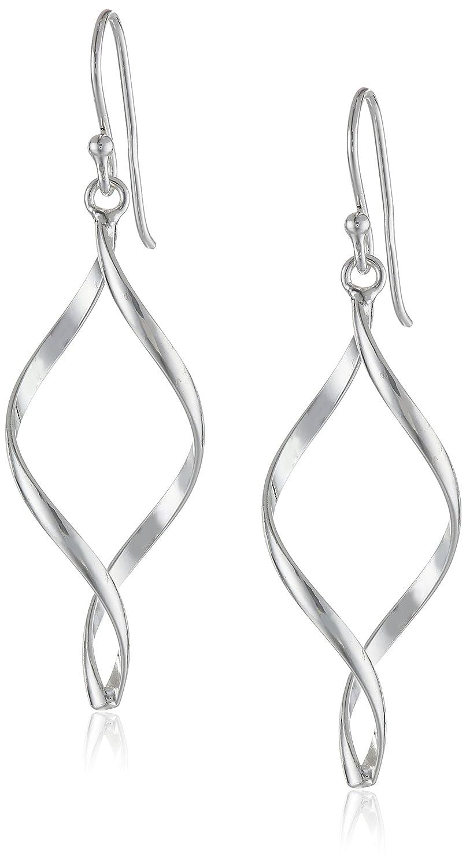 cc8bf1757 Amazon.com: Sterling Silver Twist-Drop Earrings: Jewelry