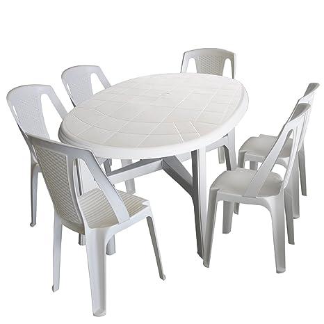 Tavolo Plastica Giardino Prezzo.Rie19a43b Amazon Set Tavoli Da Giardino Eukalypto
