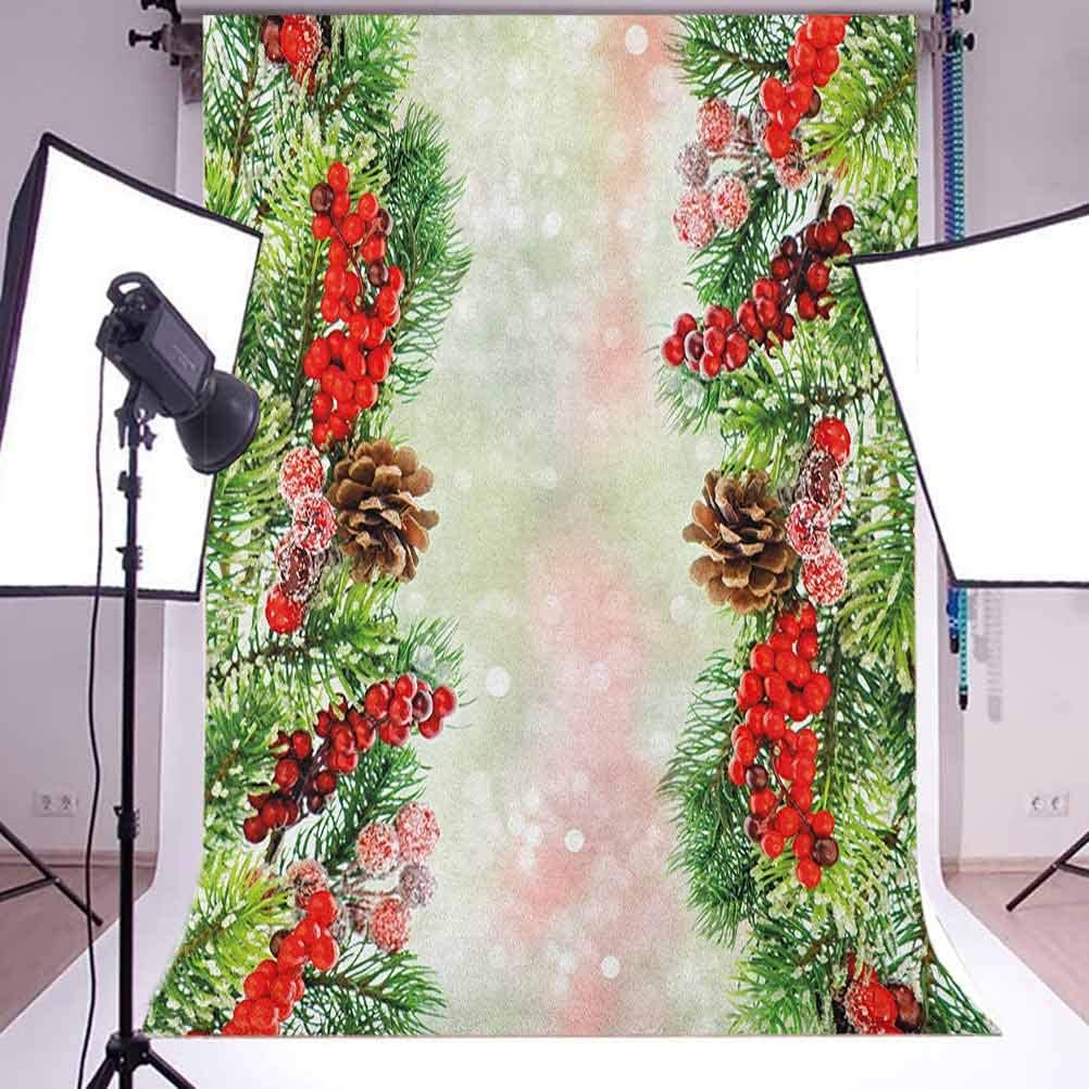 7x10 FT Grey and Yellow Vinyl Photography Backdrop,Tribal Bohem Design with Flowers Leaves Swirls and Dots Image Background for Party Home Decor Outdoorsy Theme Shoot Props