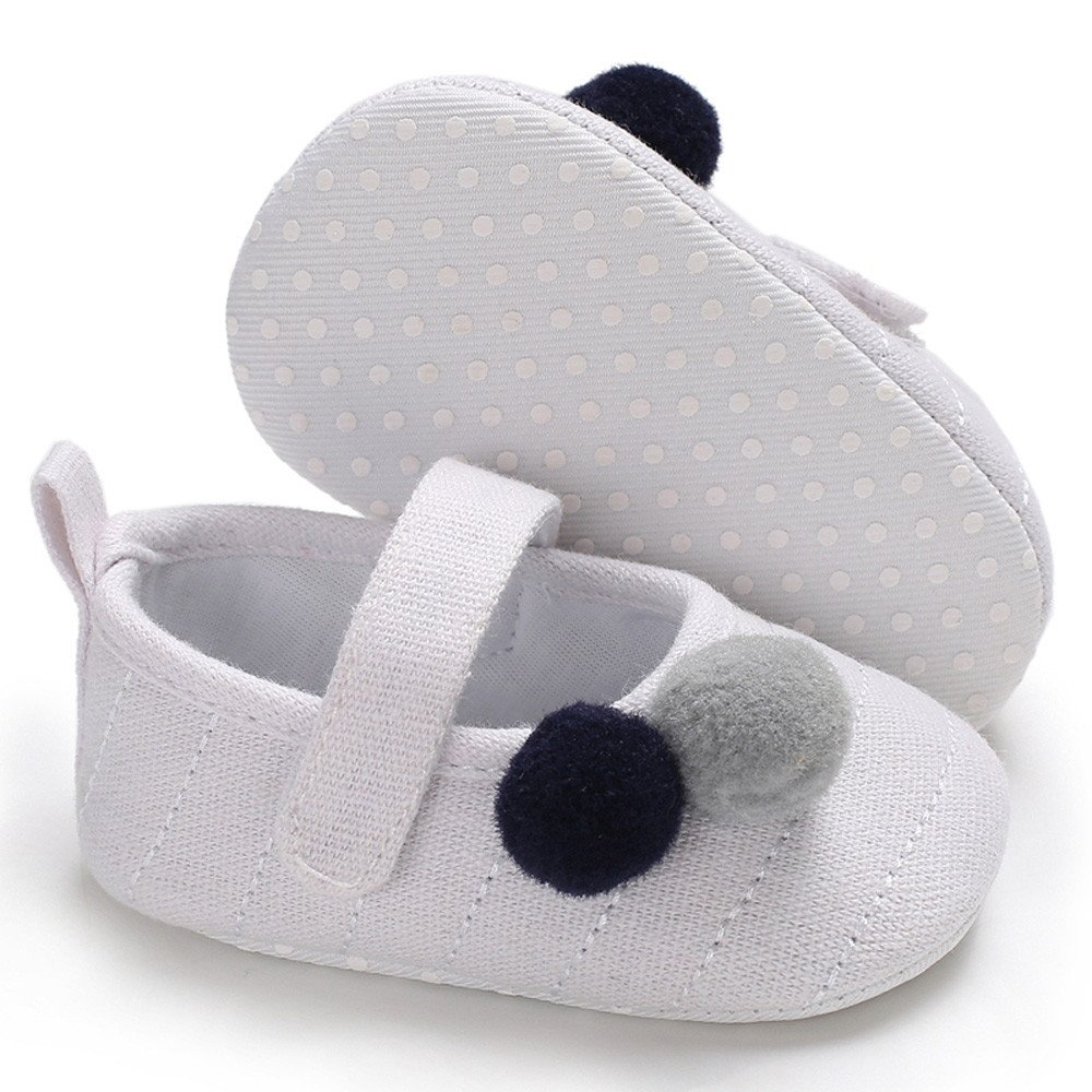 Lurryly Newborn Baby Boys Girls Shoes Crib Prewalker Soft Sole Anti-slip Shoes 0-18 M