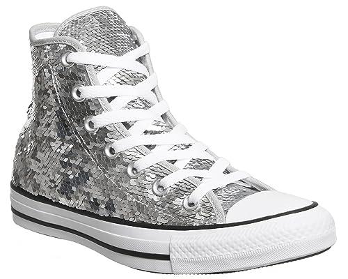Converse Taylor All Silver Hi Textile Eu 36 Chuck Sequin Star rdxBoWCQe