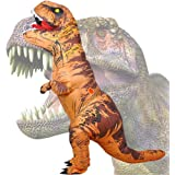 Wild Cheers Inflatable Dinosaur Costume, 2.2m High, Jurassic T-Rex Costume, Screaming, Suitable for Halloween, Birthday…