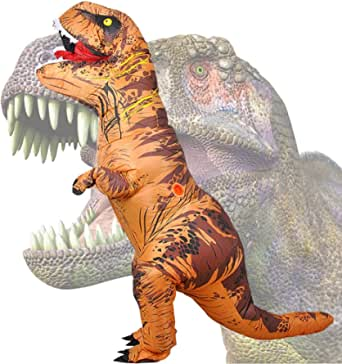 Wild Cheers Inflatable Dinosaur Costume, 2.2m High, Jurassic T-Rex Costume, Screaming, Suitable for Halloween, Birthday Party, Gifts