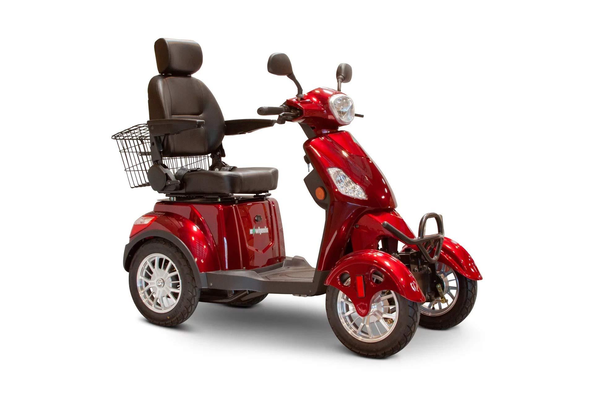 EWheels EW-46 Bariatric 4-Wheel Long Range Electric Mobility Scooters - 35 Mile Range (Red) by eWheels