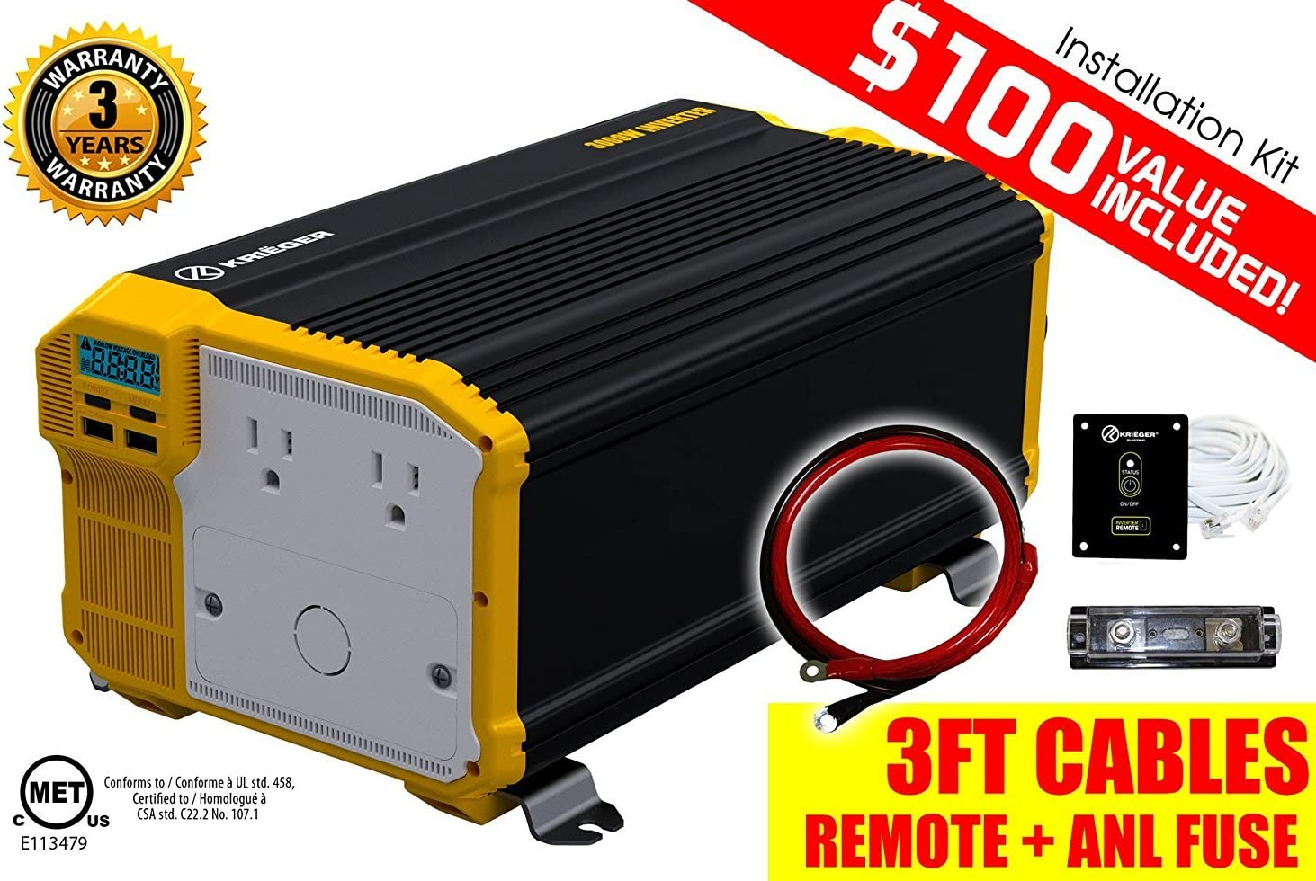 Best Power Inverter With LED Display