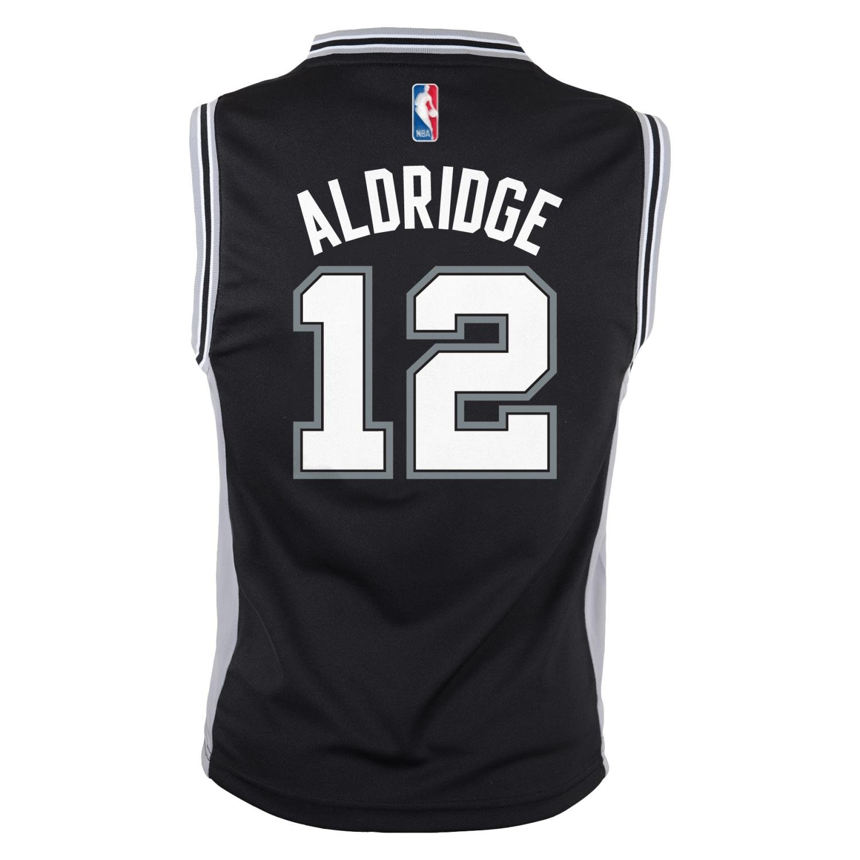 dbdd3d10b Amazon.com   adidas Lamarcus Aldridge San Antonio Spurs NBA Replica Youth  Jersey - Black   Sports   Outdoors