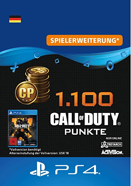 1.100 Call of Duty : Black Ops 4-Punkte - 1100 Points DLC   PS4/PS3 Download Code - deutsches Konto