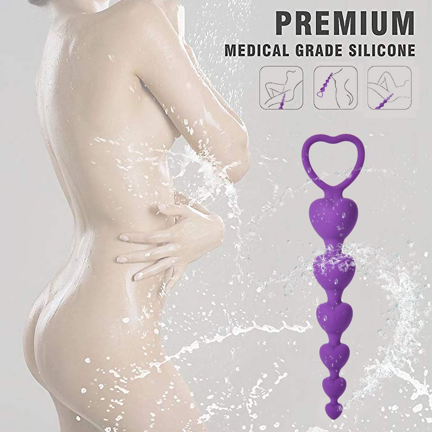 Small and Exquisite Soft Silicone Purple Six Bead Best Choice