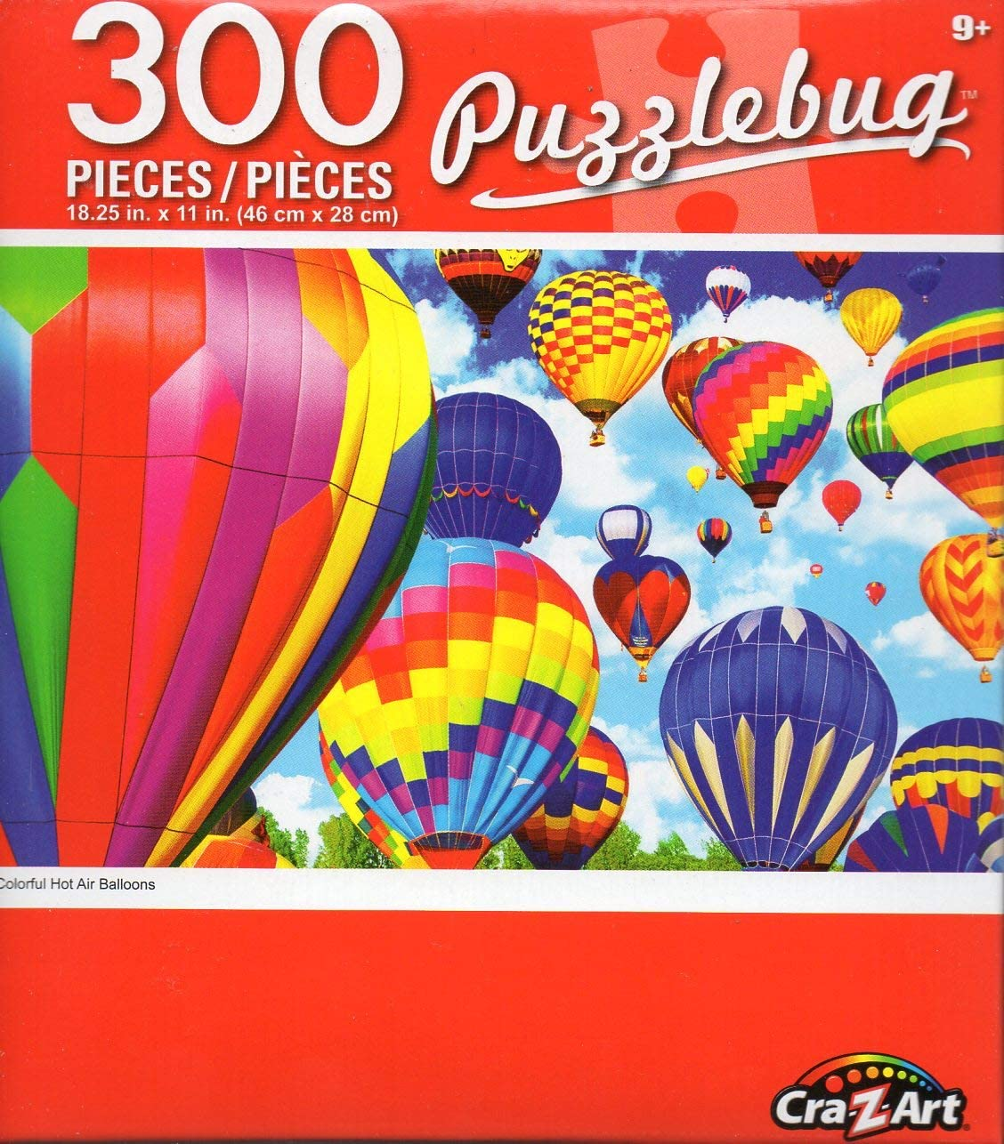 COLORFUL HOT AIR BALLOONS FLYING CRA Z ART PUZZLEBUG 300 PIECE