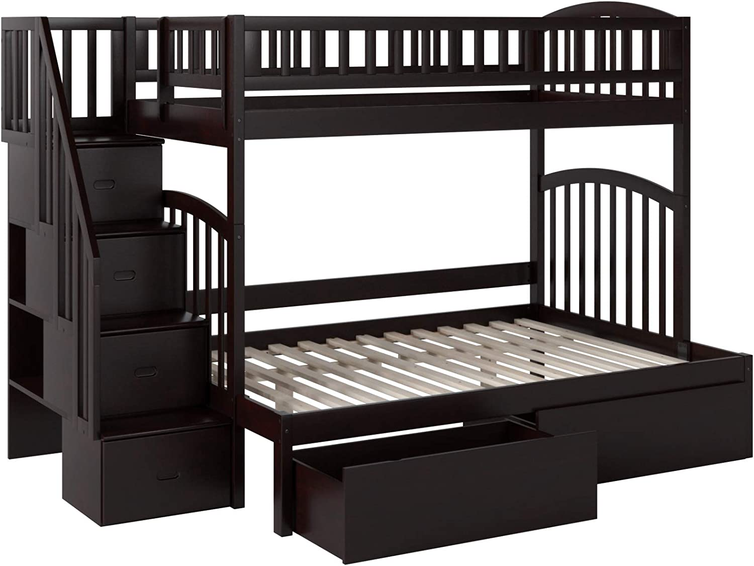 Atlantic Furniture Westbrook Bunk 2 Urban Bed Drawers, Twin/Full, Espresso