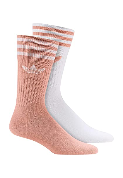 adidas Originals Socken Doppelpack SOLID CREW 2PP DW3935 Weiß Rosa,  Size:35/38