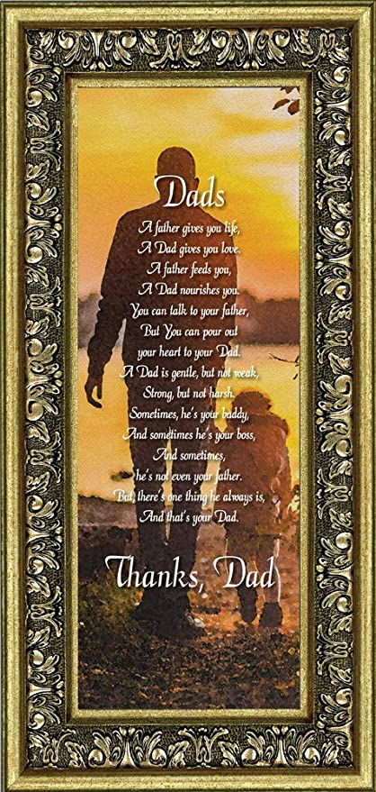 amazon com dad meaningful picture frame gifts for dad 6x12 7353g