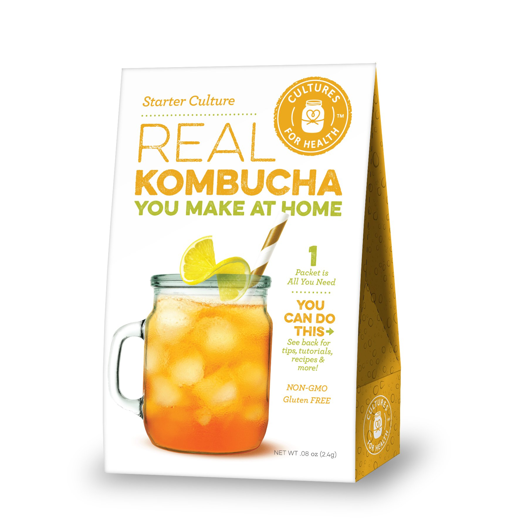 Kombucha - Starter Culture - SCOBY for homemade sparkling probiotic tea, heirloom, non-GMO