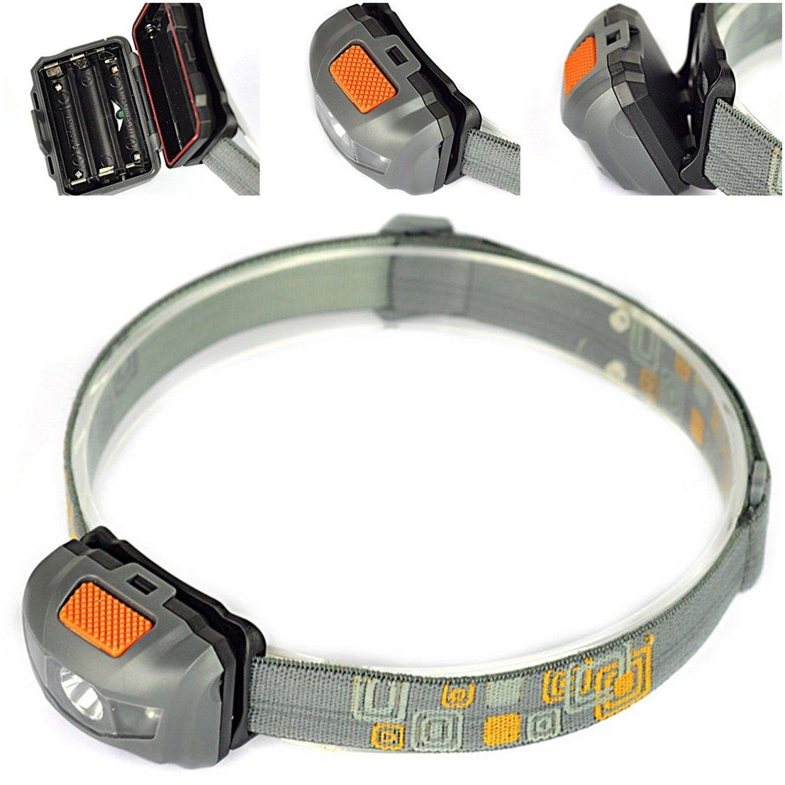2 LED Mini Flashlight 4 Mode Super Bright Headlights Lamp Taillights Bike R3