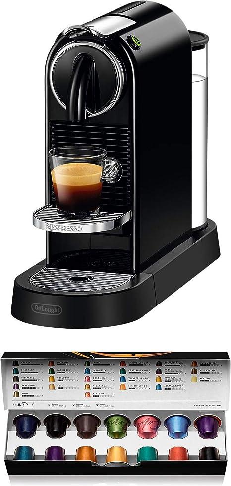 Nespresso DeLonghi Citiz EN167.B - Cafetera monodosis de cápsulas Nespresso, compacta, 19 bares, apagado automático, color negro: Amazon.es: Hogar