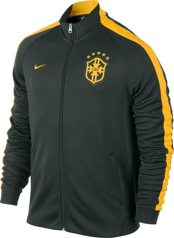 2014-15 Brazil Nike Authentic N98 Jacket (Black)