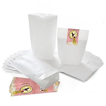 Schnelle Farbe Gedeckter Tisch Geschenkbeutel Gastgeschenk Tischdeko Geburt Rosa Weiß 6 St Bastelmaterialien