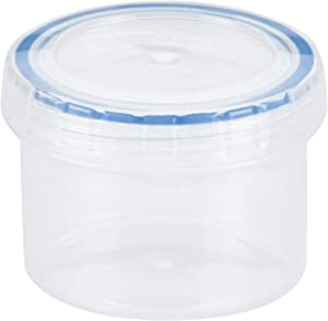 LOCK & LOCK Easy Essentials Twist Food Storage lids/Airtight containers, BPA Free, Short - 5 oz - for Candies, Clear