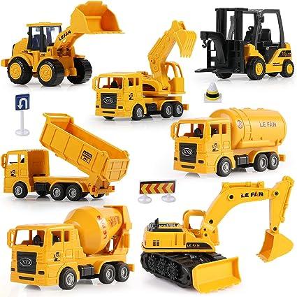 Amazon.com: Mini camiones de construcción, GEYIIE ...