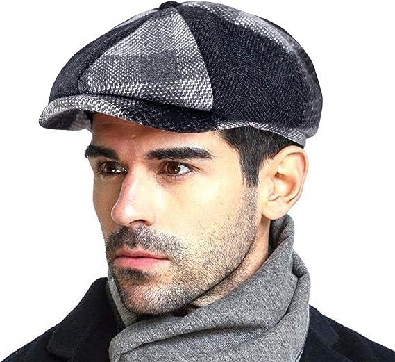 Ladies Womens Baker Boy Newsboy Cap Hat Felt Feel Fabric LIGHT GREY