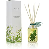 LOVSPA Cucumber Mint Reed Diffuser Oil Gift Set - Garden-Fresh Cucumber, Cyclamen Blossoms & Cool Spearmint - Real Leaves in The Bottle! - Great Home Gift Idea - Made in The USA