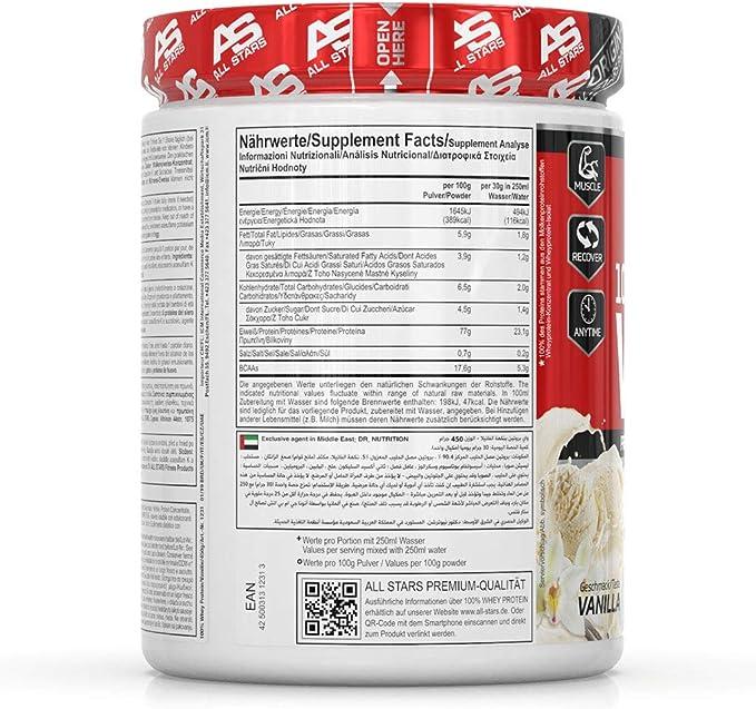 All Stars 100% Whey Protein (450g) 450 g 1 Unidad