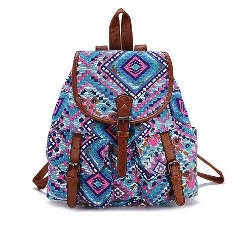 Mochila Para Chicas,Moda Lienzo Universidad Bolsas Estudiante Escuela Mochila Viajes Daypack Para Mujeres