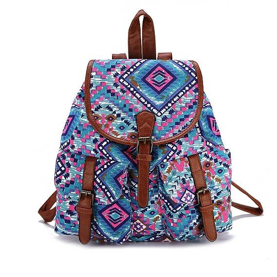 Mochila Para Chicas,Moda Lienzo Universidad Bolsas Estudiante Escuela Mochila Viajes Daypack Para Mujeres: Amazon.es: Equipaje