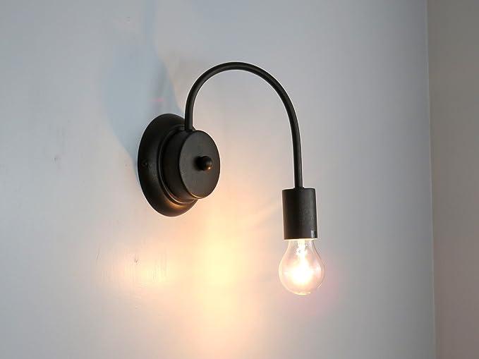 Lampada parete applique flessibile classico vintage illuminazione