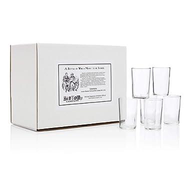 Italian Bàcaro  Stemless Wine Glasses (Gift Box Set of 6)