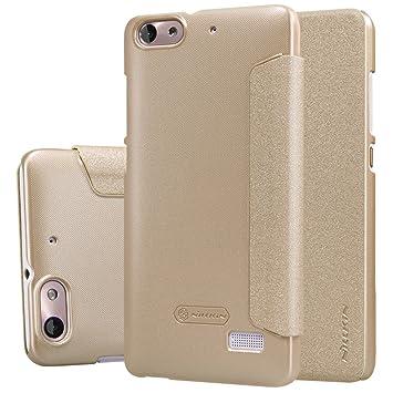 ELTD Honor 4C / Huawei G Play mini flip Cover, Slim flip funda carcasa case para Honor 4C / Huawei G Play mini, Oro