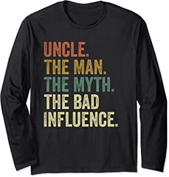 Camiseta antigua del mito del Tío Hombre Mala Influencia ...
