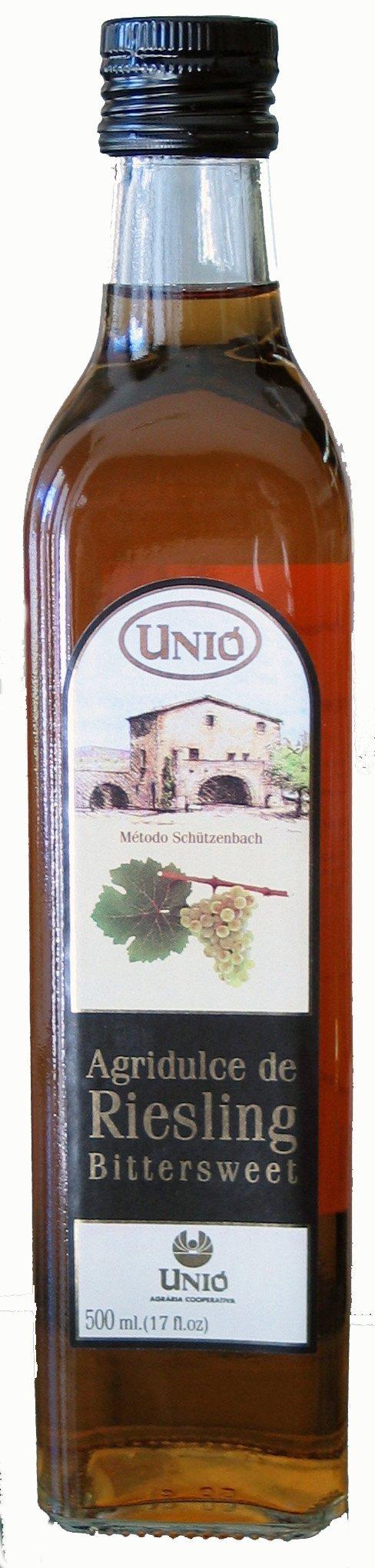 Unio Bittersweet Riesling White Wine Vinegar 500ml (17 oz) Bottle by Unio