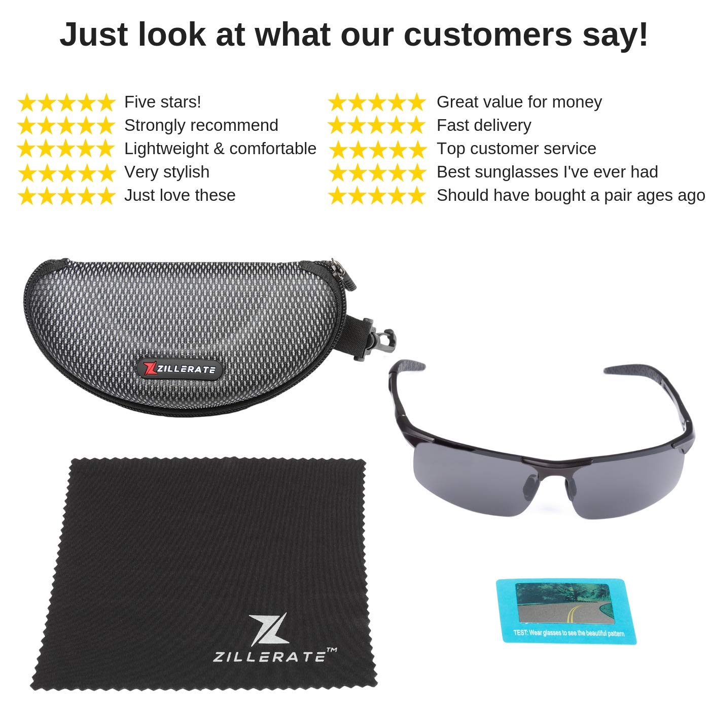 da34dbd67c Polarised Sunglasses for Men   Women by ZILLERATE
