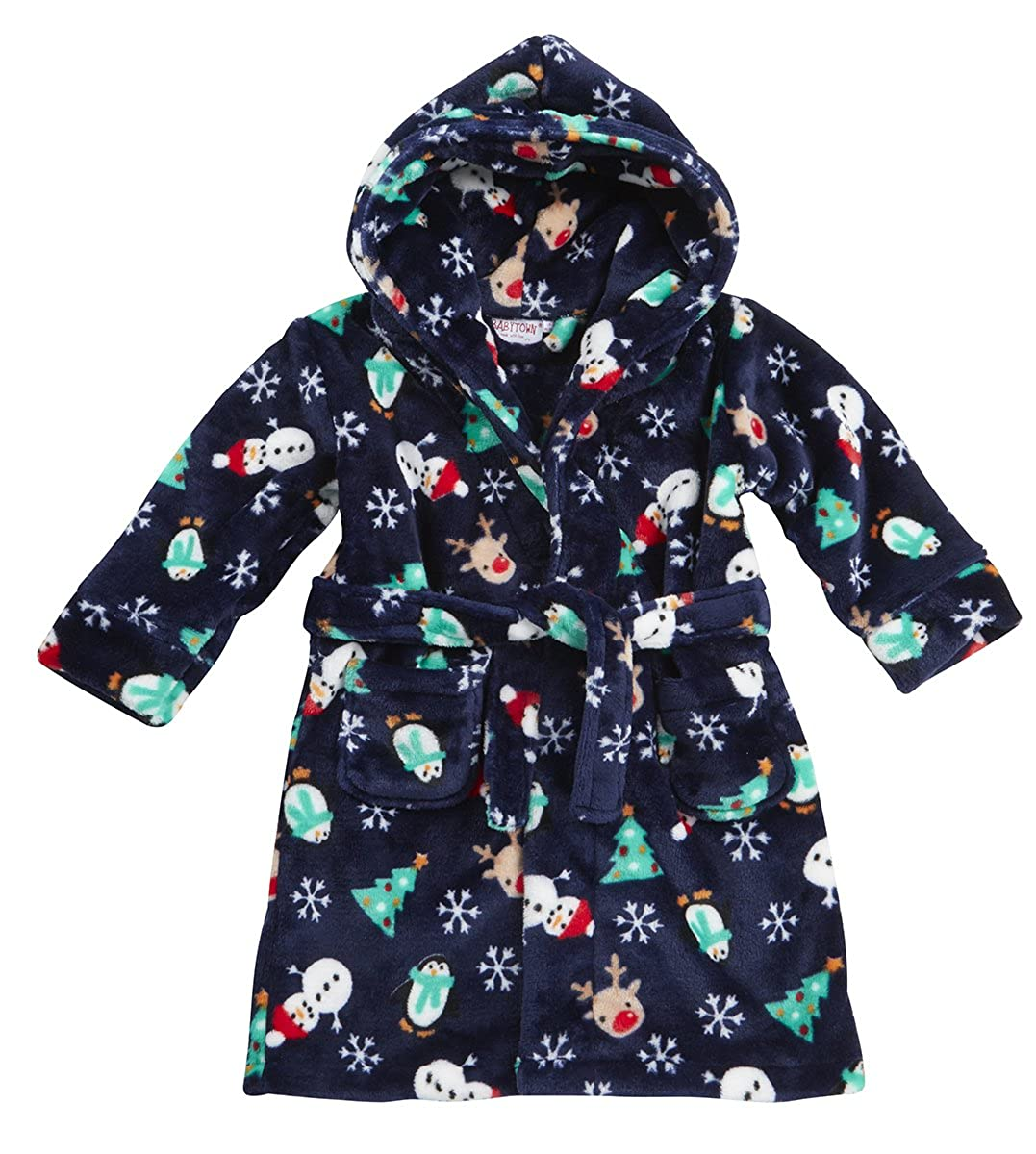 Baby Town Boys and Girls Christmas Dressing Gowns Lovely Soft Coral Fleece BABYTOWN