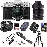 Fujifilm X-T30 Mirrorless Camera with XF 18-55mm f/2.8-4 R LM OIS Lens, Silver - Bundle with 32GB SDHC U3 Card, Joby GorillaP