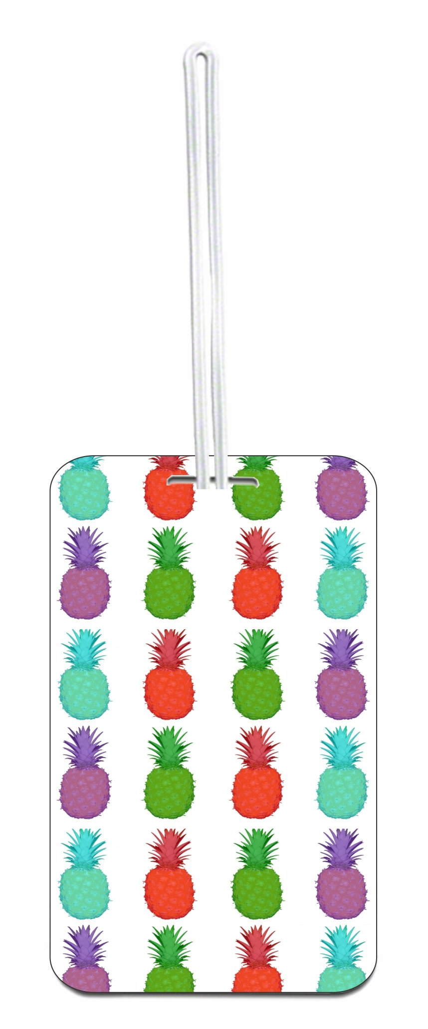 Pineapples Hard Plastic Luggage Tag with Personalized Back