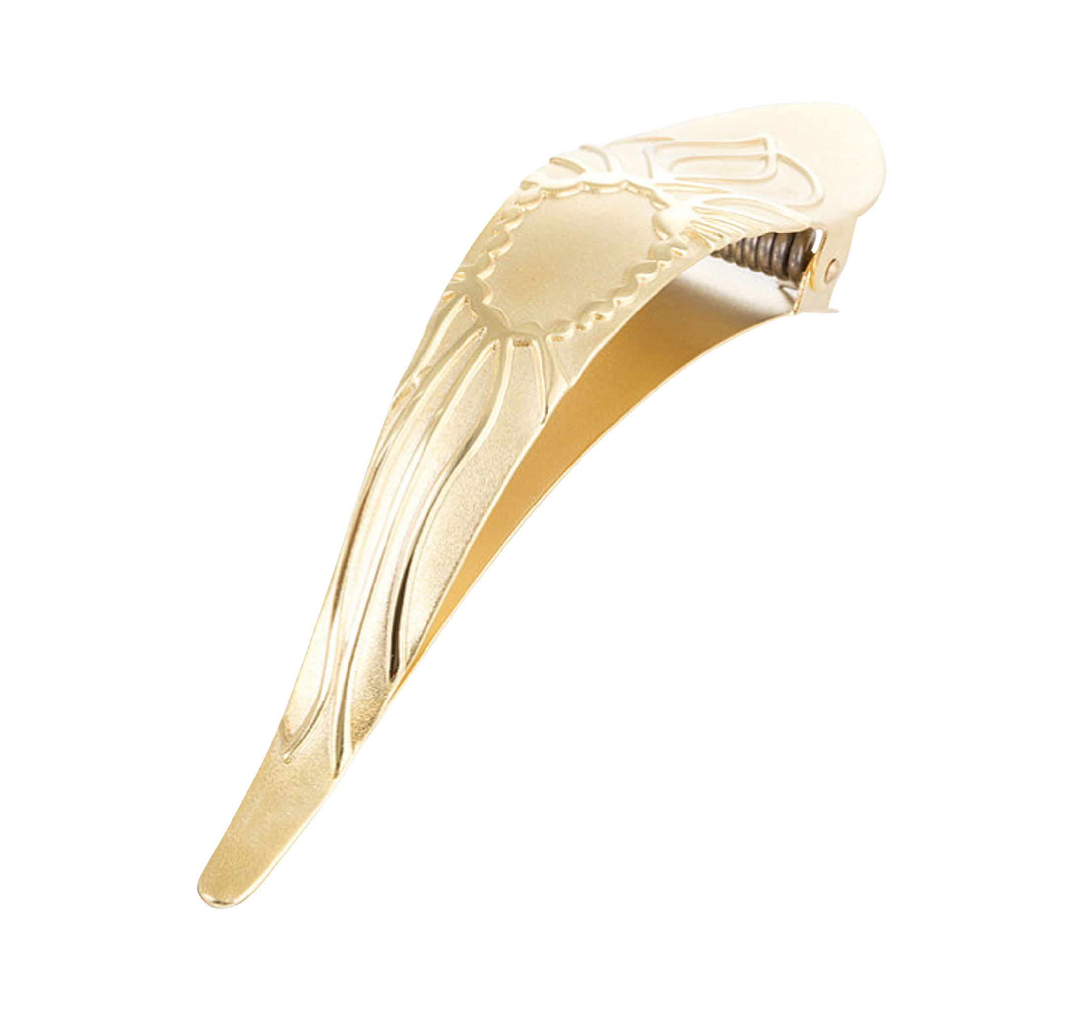 Ficcare Maximas Hair Clip in Lotus 2-Tone in Gold Plated Small
