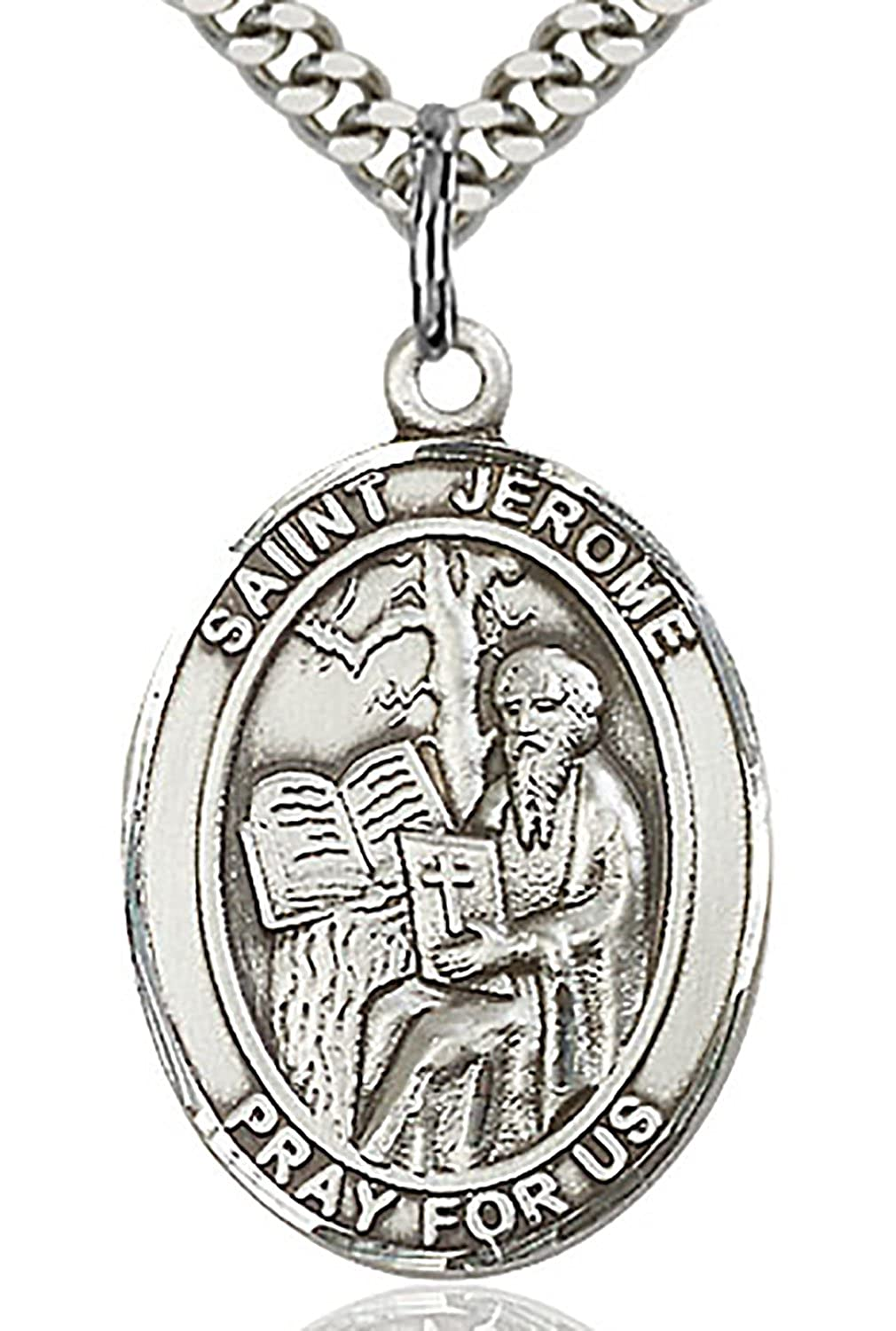 Patron Saint of Librarians Heartland Mens St USA Made Jerome Sterling Silver Medal