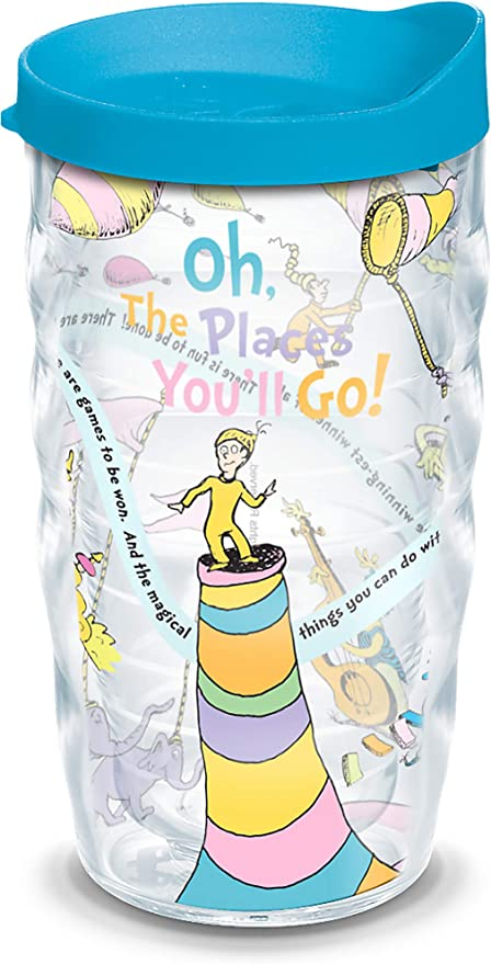Dr Seuss Insulated Plastic Glass Cup Oh The Places You/'ll Go Graduation