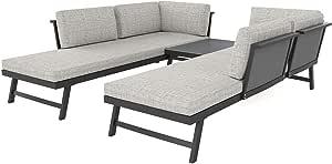 ARTELIA Morino - Juego de muebles de jardín para 5 personas - Muebles de jardín modulares Premium para terraza, jardín y jardín de invierno, muebles de terraza, antracita: Amazon.es: Jardín